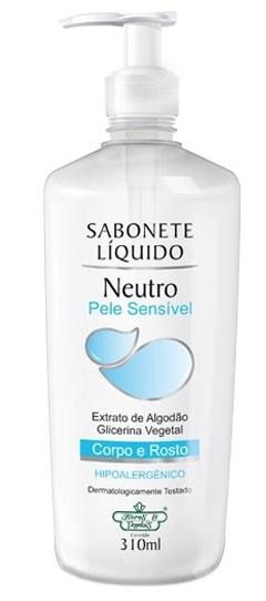 Sabonete Líquido Neutro Corpo e Rosto Flores & Vegetais 310ml