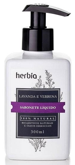 Sabonete Líquido Natural Orgânico Lavanda Herbia 300ml