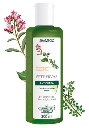 Shampoo Antiqueda 7 Ervas Flores & Vegetais 300ml