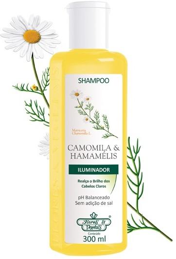 Shampoo para cabelos loiros Camomila e Hamamélis Flores & Vegetais 300ml