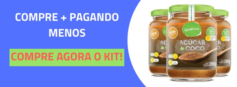 Açúcar de coco 280g natural QualiCôco-4