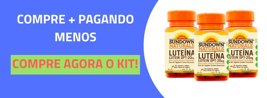 Kit 2 Lutein OPT 20mg Luteína Sundown 30 cápsulas-3