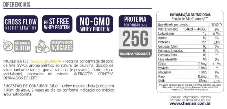 Whey Protein Concentrate 25g Revitá 900g Chocolate-2