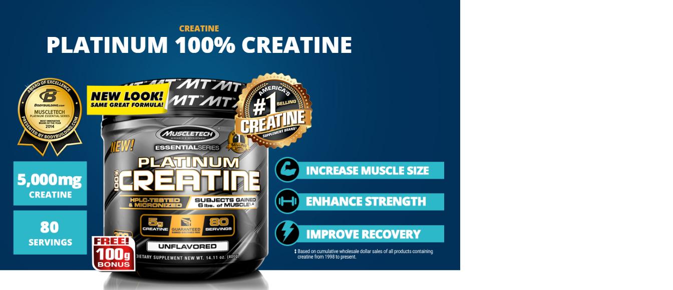 Creatina Micronizada Platinum 100% Pura Muscletech 400g-3