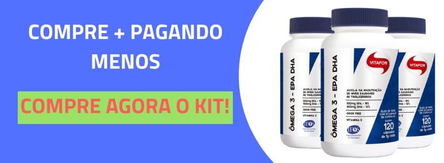 Ômega 3 EPA  DHA 1000mg Vitafor 120 cápsulas-4