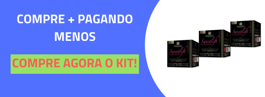 Sweetlift Adoçante Natural Essential Nutrition 50 Sachês-4