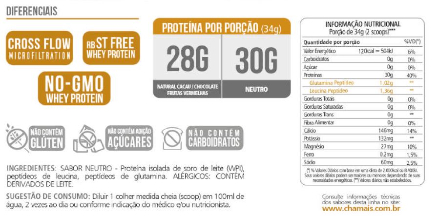 Whey Protein Isolado Pept 28g Revitá 900g Chocolate-5