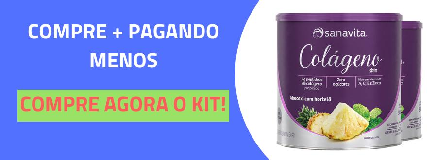Colágeno Hidrolisado em pó Sanavita 300g Abacaxi com Hortelã-4