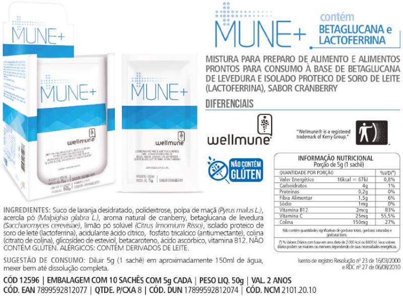 Mune + para Imunidade Wellmune Chá Mais 10 sachês-3