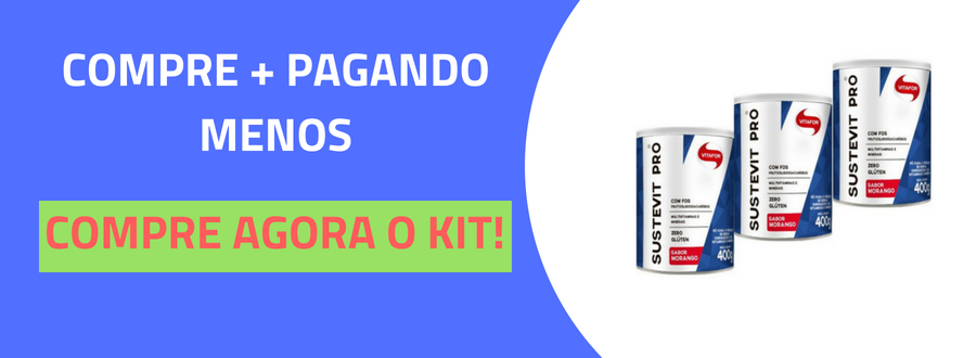 Sustevit Pró Fibras Alimentares Vitafor 400g Morango-3