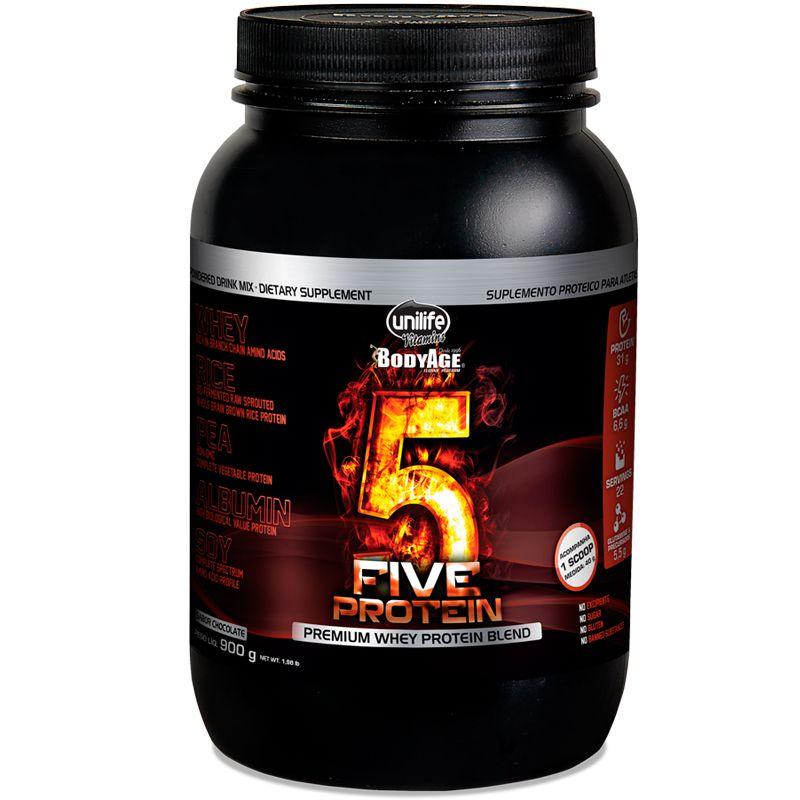 33b26a1c1 Concentrado. Blend proteico Five Protein chocolate Unilife