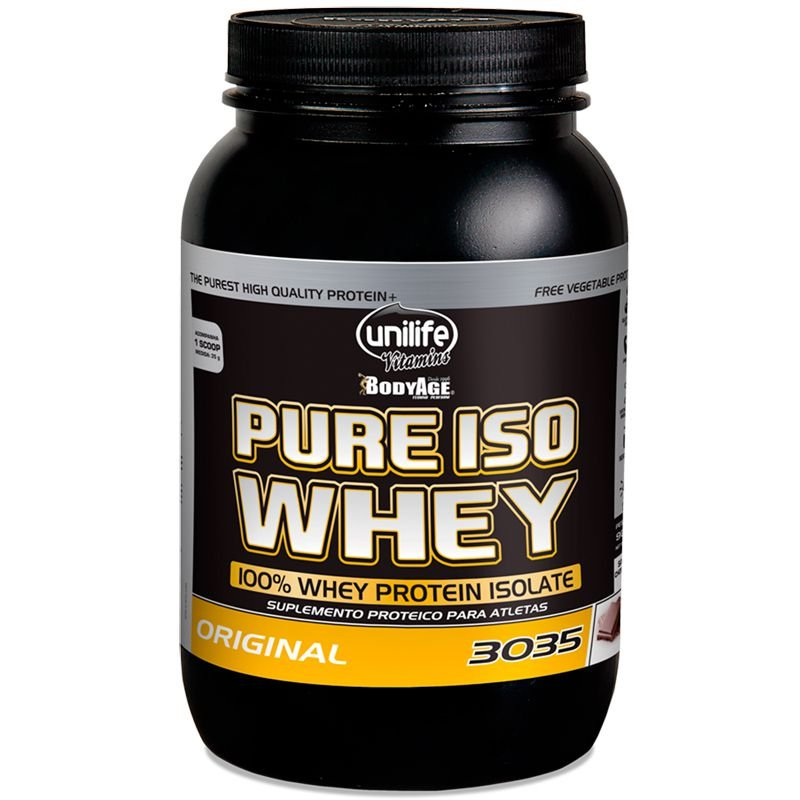 d6759076f Whey Protein 30g Pure Isolado 900g Chocolate Unilife - Edin