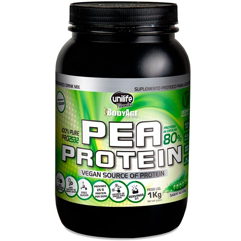 02ec11e67 Pea Protein 1kg Proteína vegetal Unilife natural - Edin
