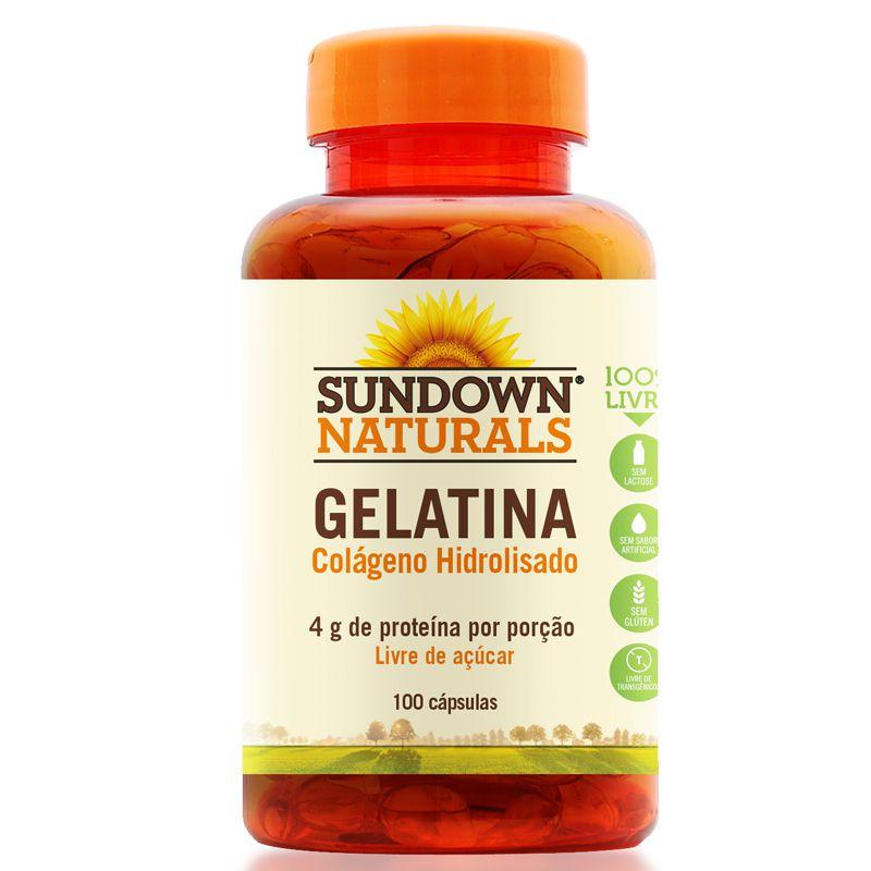 1cb460ede Gelatin 650mg Colágeno Hidrolisado Sundown 100 cápsulas - Edin