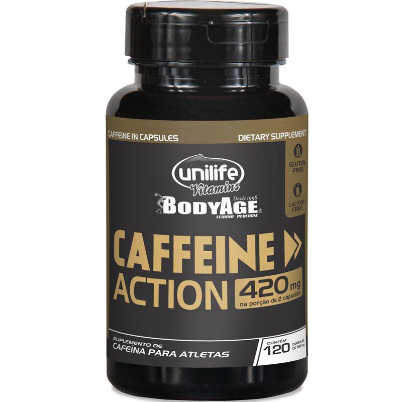 08afdd61e Cafeína 420mg Caffeine Action Unilife 120 cápsulas - Edin