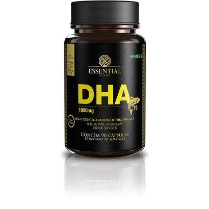 9390d9959 DHA Óleo de Peixe 1000mg Essential Nutrition 90 Cápsulas - Edin