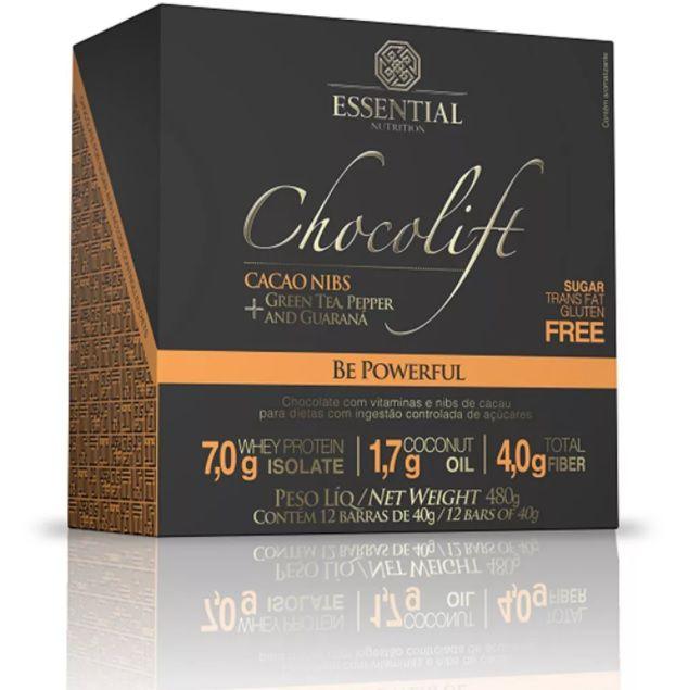13ad6e47b Chocolift Cacao Nibs Essential Nutrition Box 12 Unidades - Edin