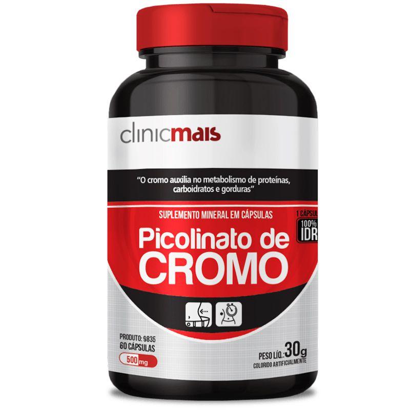 b37c884fd Picolinato de Cromo 500mg Chá Mais 60 cápsulas - Edin