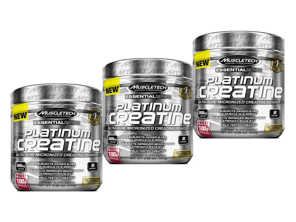 614f99fd7727f KIT 3 PLATINUM CREATINA 100% PURA MUSCLETECH 400G - Edin