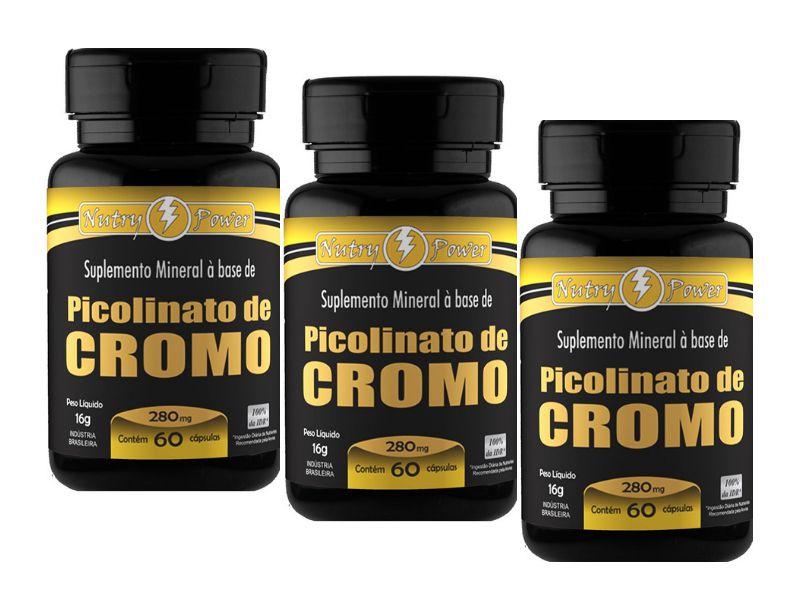 0d687b7ad Kit 3 Picolinato de Cromo Apisnutri 60 Cápsulas - Edin