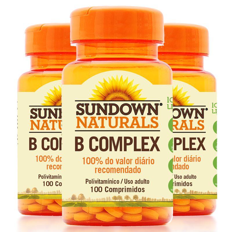 b4872b4ed Kit 3 Complexo B Sundown 100 Comprimidos - Edin
