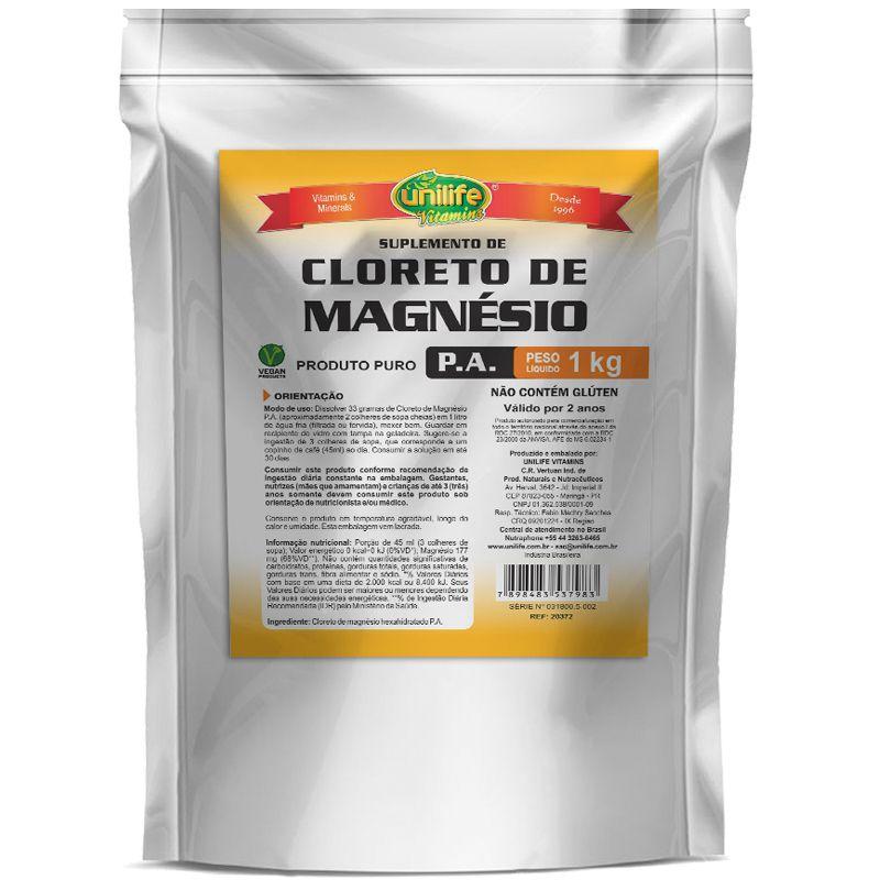 4222ed2cc Cloreto de Magnésio P.A Unilife 1kg - Edin