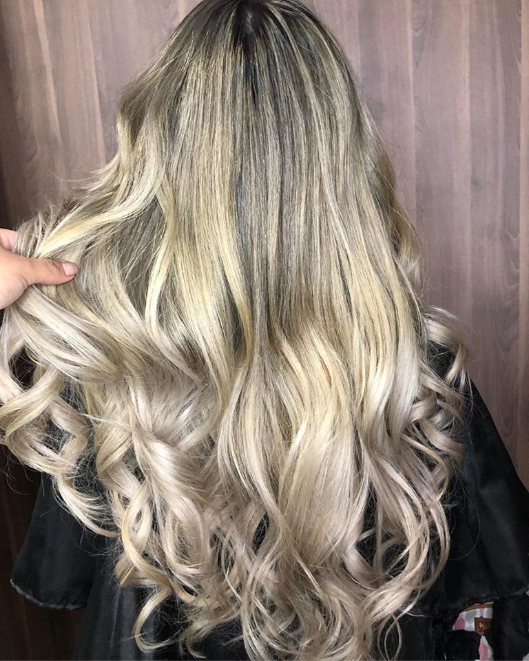 resultado cabelo descolorido com po descolorante da minas flor