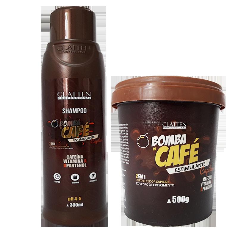 glatten bomba de café estimulante capilar
