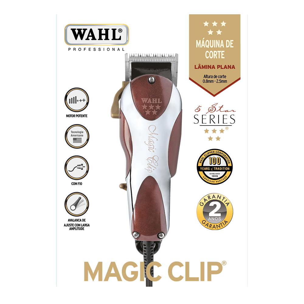 maquina de cortar cabelo wahl magic clip