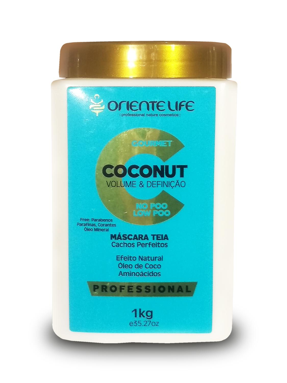 mascara para cabelos cacheados oriente life coconut