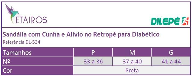 a7f0974910 Sandália com Cunha e Alívio no Retropé para Diabético - DL-534 ...