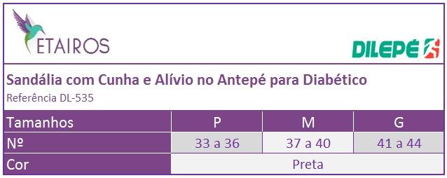 0351699f49 Sandália com Cunha e Alívio no Antepé para Diabético - DL-535 ...
