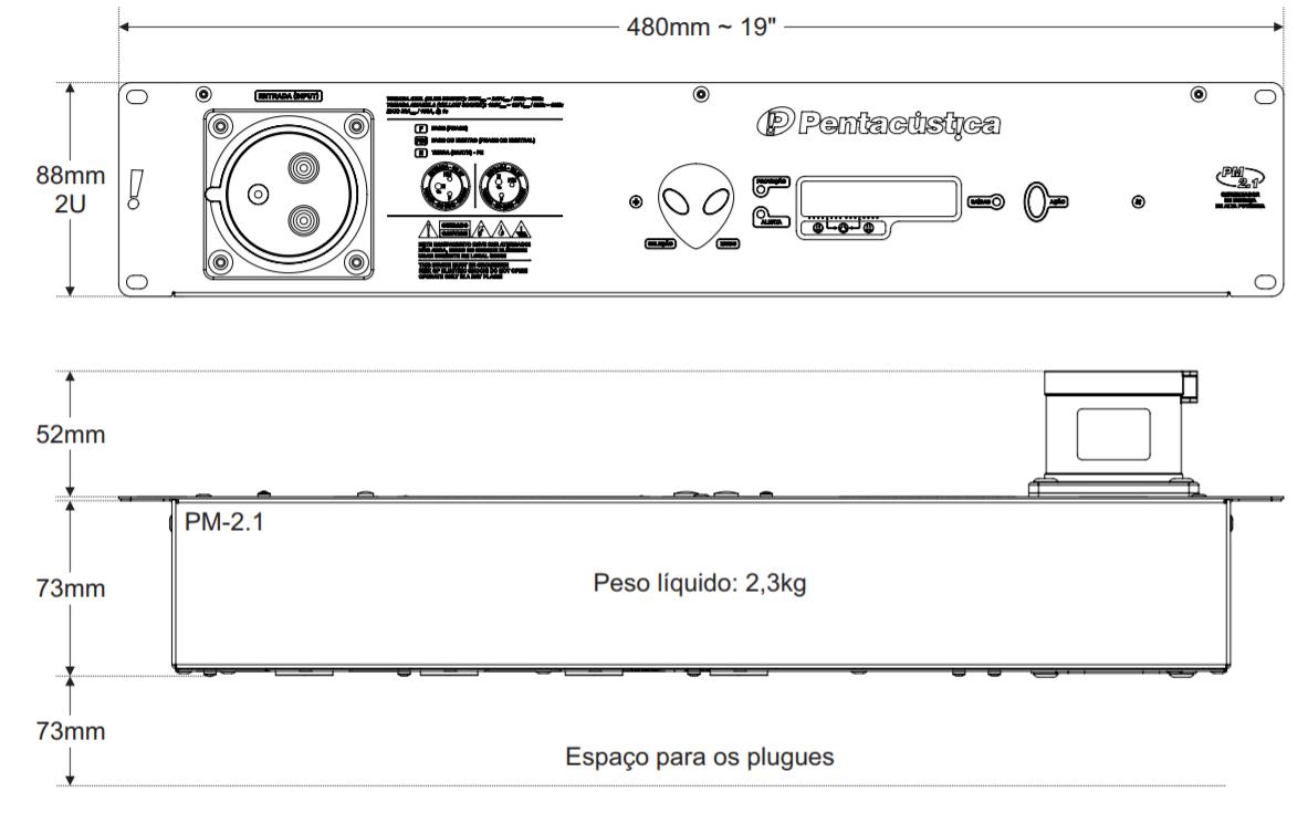 Gerenciador de Energia Pentacústica PM 2.1 220V