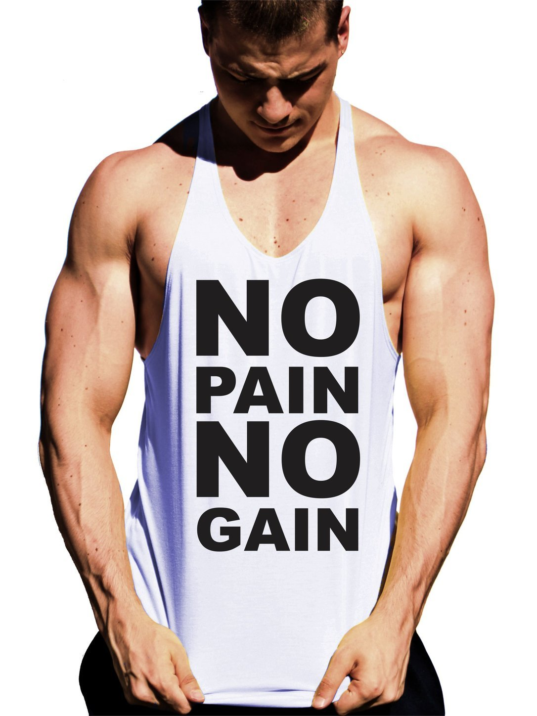 regata cavada masculina no pain no gain