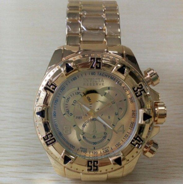 46cfa99b72a Relogio invicta replica masculino dourado preço de fábrica frete grátis