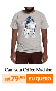 Camiseta Masculina - Coffee Machine