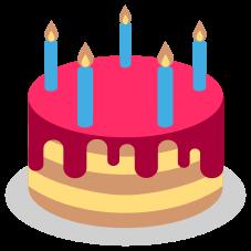 Emoji Bolo de aniversário