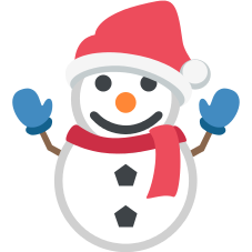 Emoji Boneco de neve