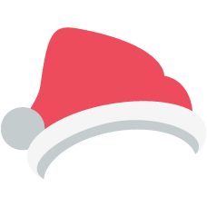 Emoji Natal chapéu