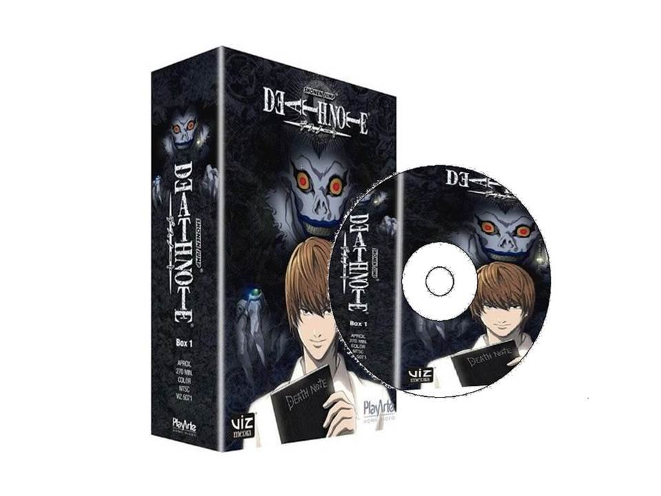 box completo death note todas as temporadas dvd