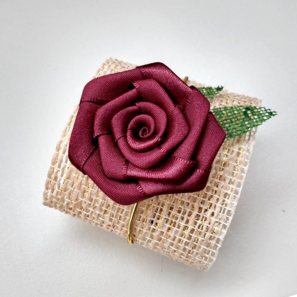 Porta Bem Casado Rustico com Flor P001