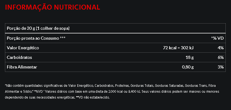 Batata Doce em pó Atlhetica Nutrition