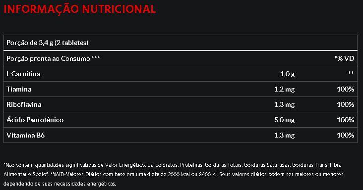 L-Carnitina 1000 60 Tabs Atlhetica Nutrition Evolution Series