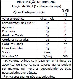 L-Carnitina Power Supplements - Informação Nutricional