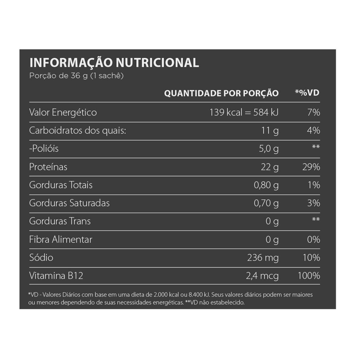 Reaction Vegan Sachê Atlhetica Nutrition