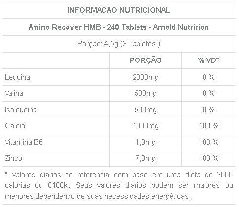 Amino Recover HMB Arnold Nutrition