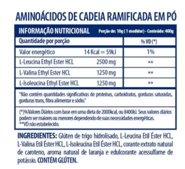 BCAA 5g Powder Arnold Nutrition com Glutamina