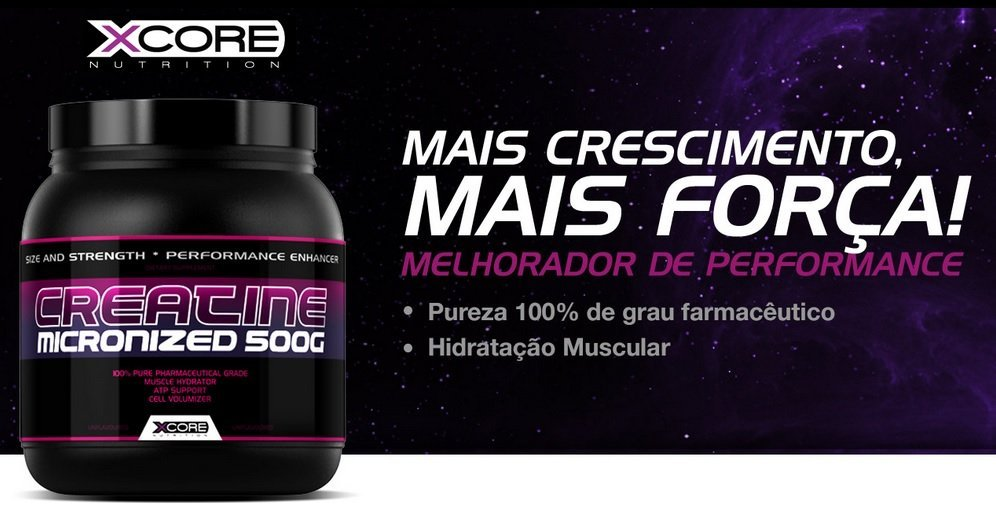 Creatine micronized (500g) - Xcore Nutrition