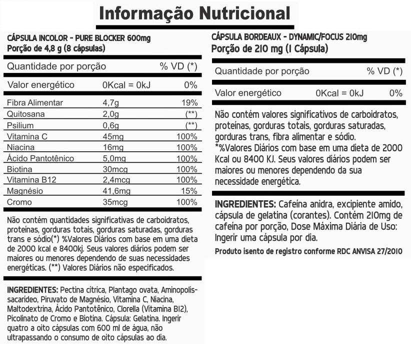 Suplemento Sineflex Informação Nutricional