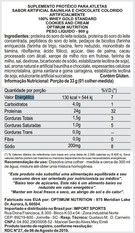 Whey Gold Standar Optimum Nutrition
